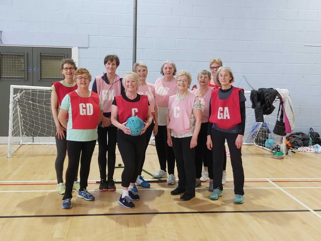 Sandylands Craven U3a netball team